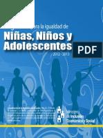 Agenda Para La Igualdad de Niñas, Niños y Adolescentes