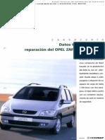 Datos Técnicos Para La Reparación Del OPEL ZAFIRA