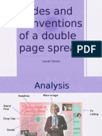 Codes and Conventions of Double Page Spread