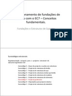 Dimensionamento de Fundacoes de Acordo Com o EC7 – Conceitos Fundamentais.