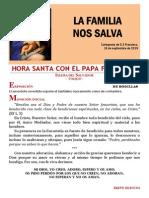 HORA SANTA CON EL PAPA. La Familia, Lugar de Protección (26)