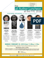 Random House FYE® Author Luncheon Invite 2016