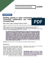 Building capacity in urban communities and schools