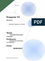 Transformaciones Lineales Informe Presentacion