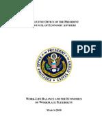 U.S. President's Study of American Work-Life balance (March 2010)