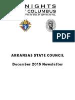 Arkansas Knights of Columbus Newsletter December 2015