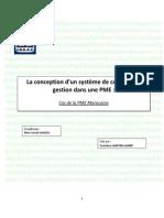 La Conception Dun Système de Contrôle de Gestion Dans Une PME[1]