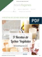 9 Recetas de Leches Vegetales _ Danza de Fogones