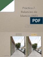 Práctica # 5 Wb Balance de Blancos
