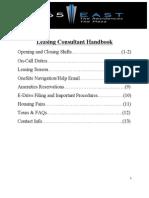 leasing consultant handbook