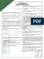 4ªLista de Exercícios - função polinomial do 1° grau