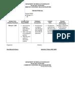Individual Reflections Format (CPH)