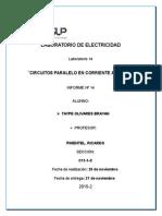 Laboratorio de Electricidad 14CIRCUITOS PARALELO EN CORRIENTE ALTERNA