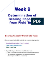Wk9 Bearing Capacity From Field Tests