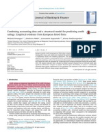 Combining Accounting Data and a Structural Model for Predicting Credit Ratings Empirical Evidence From European Listed Firms 2015 Journal of Banking F