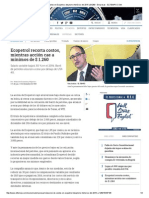 Reducción de Costos en Ecopetrol - ELTIEMPO