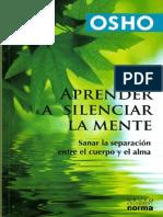 Osho - Aprender a silenciar la mente.pdf