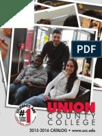 Union County College 2015-16 Catalog