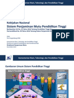 Kebijakan Nasional SPM Dikti - November 2015