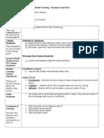 unit plan lesson plan 2