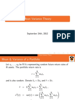 Mean Variance Theory