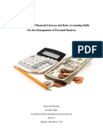 accounting and finance-outline paper