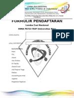 Formulir Pendaftaran Esai Nasional