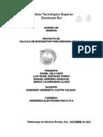 Calculo de Biodigestor