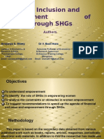 Financial Inclusion and Empowerment of Women through SHGs