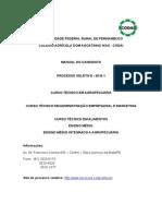 1 - MANUAL Processo Seletivo 2016.1 CODAI