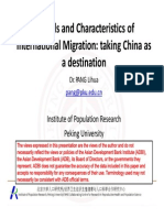 Trends and Characteristics of International Migration