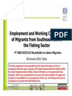 Employment and Working Conditions of Migrants from Southeast Asia in the Fishing Sector