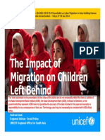 The Impact of Migration on Children Left Behind