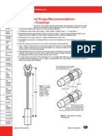 Coupling Torque Recommendations