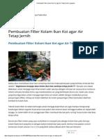 Pembuatan Filter Kolam Ikan Koi Agar Air Tetap Jernih _ Yzaputra