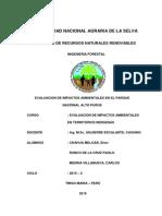 Conflicto de Comunidades Nativas en El Parque Nacional Alto PurusII