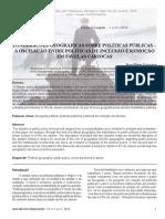 PONDERAÇÕES GEOGRÁFICAS SOBRE POLÍTICAS PÚBLICAS – A OSCILAÇÃO ENTRE POLÍTICAS DE INCLUSÃO E REMOÇÃO EM FAVELAS CARIOCAS