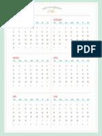 calendario enero - julio 2016