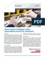Case Study -- HenrySchein ProRepair offers  value-added service for customers