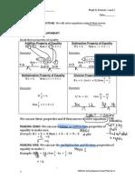 g8m4l3a8 solving equations using algebra