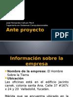 Exposicion de Ante Proyecto