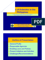 III 5. Status of Asbestos in the Philippines Mr. Elmer BENEDICTOS