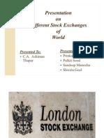 Different Stock Exchanges