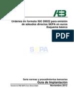 Órdenes en formato ISO 20022 para emisión de adeudos directos SEPA en euros