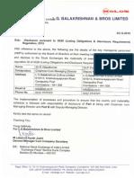 Disclosure pursuant to SEBI (Listing Obligations & Disclosure Requirement) Regulation, 2015 [Company Update]