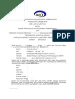 Format Perjanjian Tugas Belajar Antara Bpkp Dan Peserta