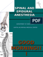 Epidural and Spinal Anesthesia