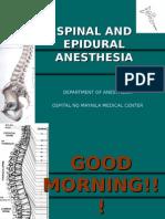 Epidural and Spinal Anesthesia