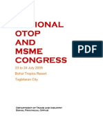 Regional OTOP and MSME Congress