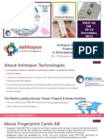 Ashtopus Technologies With Fingerprint Cards AB Exhibiting in IFSEC India 2015
